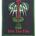 Satan - Patch - Satan -  Into the Fire  - woven patch green