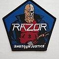 Razor - Patch - Razor - Shotgun Justice - official woven patch