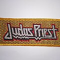 Judas Priest - Patch - Judas Priest glitter woven stripe patch gold border