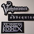 Vehemence - Patch - Emboidered patchs - Véhémence, Obsequiae, Atlantean Kodex