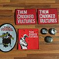 Them Crooked Vultures patches and buttons