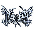 Mayhem Shaped Embroidered Patch