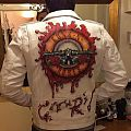 Hand painted leather jacket Guns and Roses