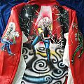Iron Maiden hand painted leather jacket