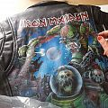 Hand painted leather jacket Iron Maiden