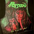 Poison painted leather vest