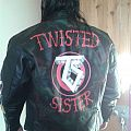 Twisted Sister hand painted leather jacket