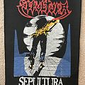 Sepultura escape to the void back patch