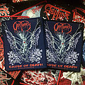 Obituary - Cause Of Death Black and Blue Border Patch