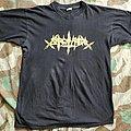 Sarcofago old gold logo shirt