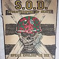 S.O.D. - Speak English or Die vintage backpatch