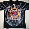 Slayer - Parental Advisory / Eagle logo t-shirt