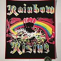 "Rainbow ""Rainbow Rising"" Backpatch, Mex. Bootleg"