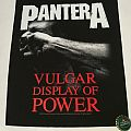 "Pantera ""Vulgar Display of Power"" Backpatch 2012"