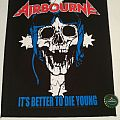 "Airbourne ""Its better to die young"" Backpatch"