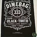 """Dimebag Darrell """"Black Tooth"""" Backpatch"""