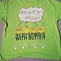 "We Butter The Bread With Butter ""Alle meine Entchen"" lime green T-Shirt XXL"