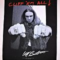 "Metallica ""Cliff 'em All"" Backpatch"