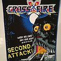"Crossfire ""Second Attack"" blue border Backpatch"