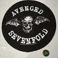 "Avenged Sevenfold - Patch - Avenged Sevenfold ""Death Bat"" Circle Backpatch"