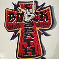 "Black Sabbath ""Mob Rules Cross"" Woven Backpatch"
