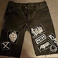 The Acacia Strain - Battle Jacket - My shorts. All patches DIY.