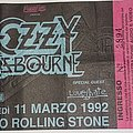Ozzy Osbourne - Other Collectable - Ozzy Osbourne - No More Tour 1992 - Milan/Italy