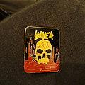 Old Slayer metal pin
