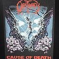 Obituary - Patch - Obituary - Cause of Death - Back Patch 1990