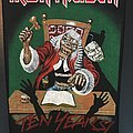 Iron Maiden - Patch - Iron Maiden – Ten Years! – Vintage Back Patch 1990 (Version 1)