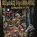 Iron Maiden - Patch - Iron Maiden - Somewhere in Time - Back Patch 1986 ('yellow version')