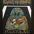 Iron Maiden - Patch - Iron Maiden - Powerslave - Back Patch 1984 (White Coffin - Blue version)