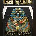 Iron Maiden - Patch - Iron Maiden - Powerslave - Back Patch 1984 (White Coffin - Blue version)