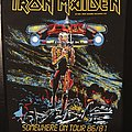 Iron Maiden - Patch - Iron Maiden - Somewhere on Tour - Vintage Back Patch 1986