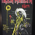 Iron Maiden - Killers - Back Patch 1981 (Version 1 - Bright Light nr.1)