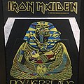 Iron Maiden - Patch - Iron Maiden - Powerslave - Back Patch 1984 (White Coffin)