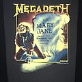Megadeth - Mary Jane - Back Patch 1988