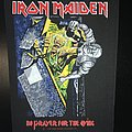 Iron Maiden - Patch - Iron Maiden - No Prayer for the Dying - Back Patch 1990 (Blue version)