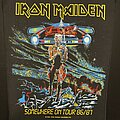 Iron Maiden - Patch - Iron Maiden - Somewhere on Tour - Back Patch 1986 (Lower Licensing)