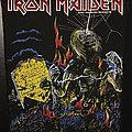 Iron Maiden - Patch - Iron Maiden - Live after Death - Back Patch 1985 (Blue Version - Upper Copyright...