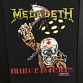 Megadeth - Patch - Megadeth - Killing is my Business - Back Patch 1988