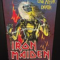 Iron Maiden - Patch - Iron Maiden - Live After Death - Bootleg Back Patch (version 2)