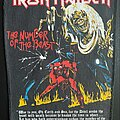Iron Maiden - Patch - Iron Maiden - Number of the Beast -  Back Patch (Scripture Version 4)