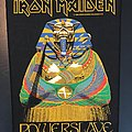 Iron Maiden - Patch - Iron Maiden - Powerslave - Back Patch 1984 (Sarcophagus version - SINGED by...