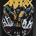 Anthrax - Judge Dredd - Vintage Back Patch 1987
