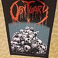 Obituary - Pile Of Skulls - 1991 Blue Grape - Razamataz - Back Patch