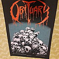 Obituary - Patch - Obituary - Pile Of Skulls - 1991 Blue Grape - Razamataz - Back Patch