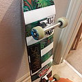 Vio-lence and Suffocation stickers on skateboard Other Collectable