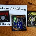 Anthrax, Megadeth and Voivod patches
