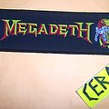 megadeth strip woven patch